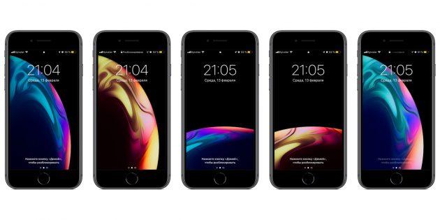 Обои для iPhone: яркие планеты и чёрная пустота