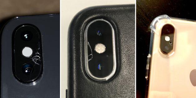 Стекло камеры iPhone в новинках 2018года оказалось весьма непрочным
