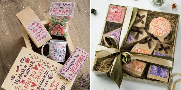Подарки на 8 Марта: Набор сладостей