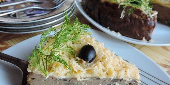 Печёночный торт с вафельным коржом