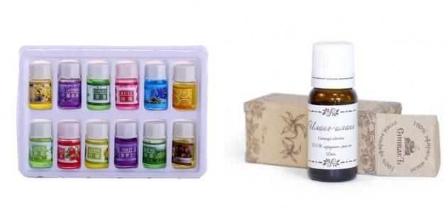 Недорогие подарки на 8 Марта: Эфирные масла