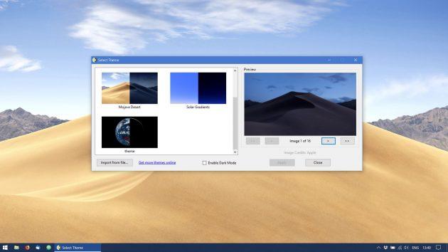 Динамические обои для Windows 10: приложение WinDynamicDesktop