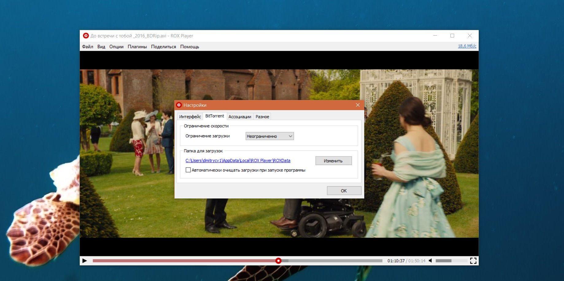 Смотреть фильм через торрент: Очистка загрузок в ROX Player