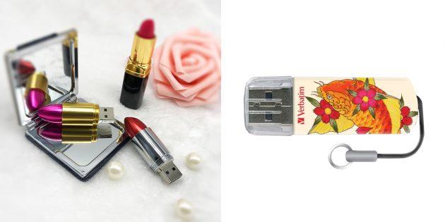 Недорогие подарки на 8 Марта: Флешка