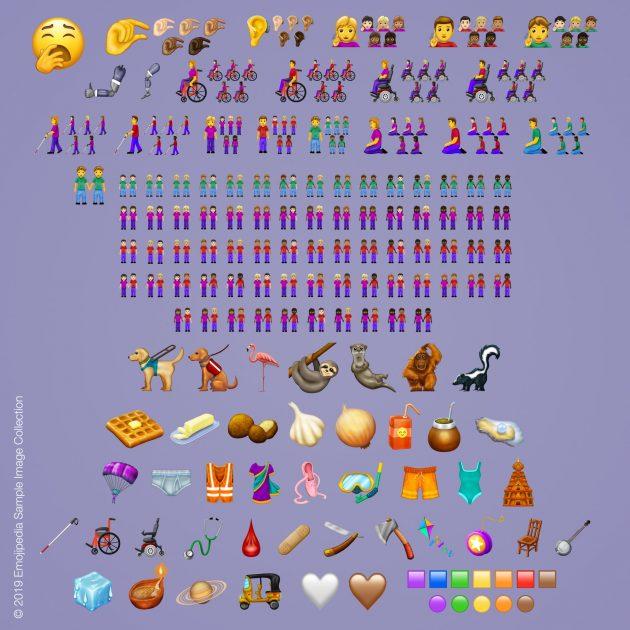 Новые смайлы, одобренные Unicode