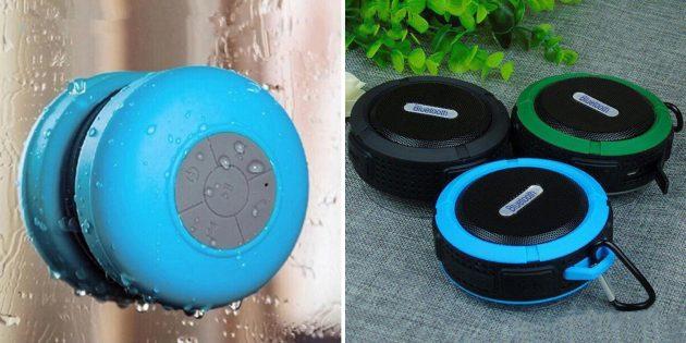 Недорогие подарки на 8 Марта: Водонепроницаемая Bluetooth-колонка