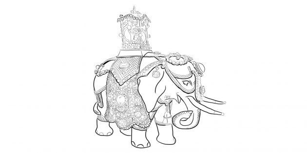 Сложные раскраски-антистресс: иллюстрации из фондов крупных библиотек