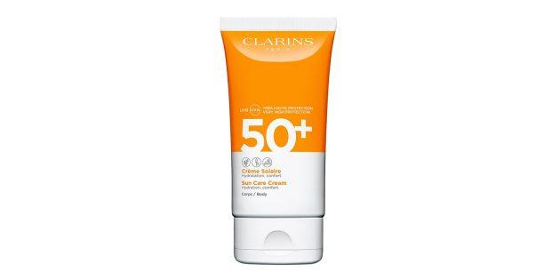 Лучшие солнцезащитные средства: Солнцезащитный крем для тела Clarins Crème Solaire Corps