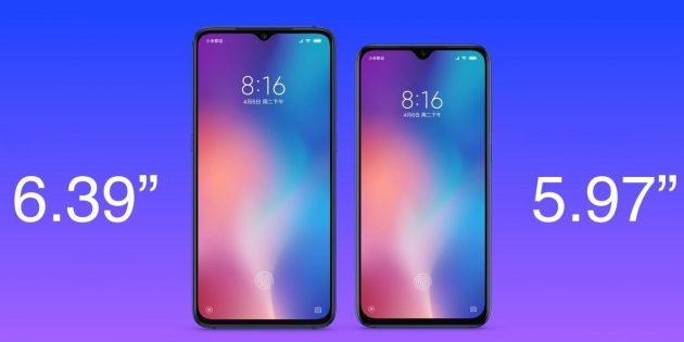 Xiaomi Mi 9SE: диагональ экрана