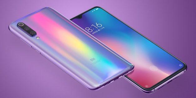 Xiaomi Mi 9 (вид спереди и сзади)