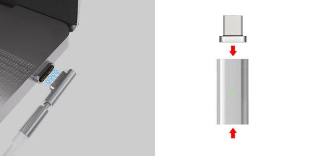 Магнитный адаптер для кабеля питания