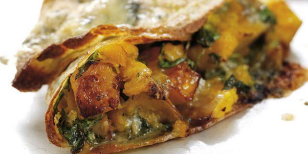 Начинки для блинов: с тыквой и мягким сыром