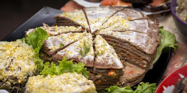 Рецепты: Печёночный торт с картошкой