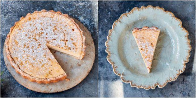 Лимонный пирог с рикоттой от Джейми Оливера