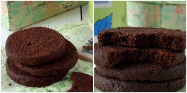 Печенье с какао и шоколадом