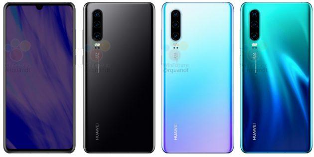 Первые изображения Huawei P30 и P30 Pro — конкурентов флагманов Galaxy S10