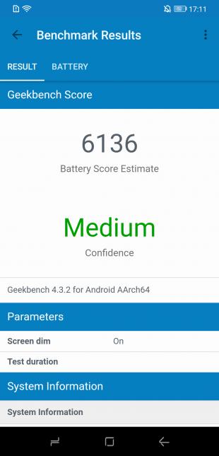 Doogee S90: Geekbench Score