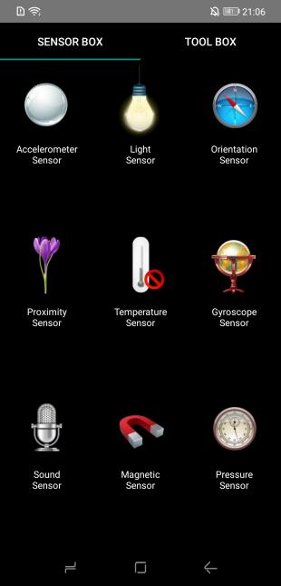 Doogee S90: Sensor box
