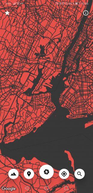 Cartogram — обои для Android на основе карт Google: можно менять цветовую гамму