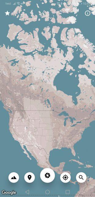 Cartogram — обои для Android на основе карт Google