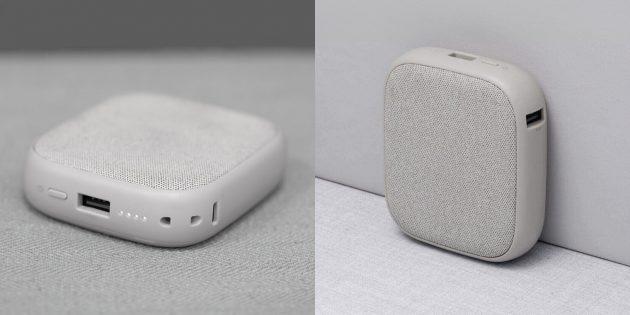 Внешний аккумулятор для телефона SOLOVEPower Bank: тканевая обшивка