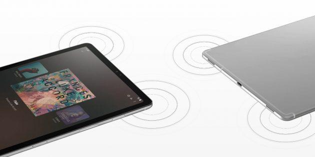 Galaxy Tab S5e: Динамики