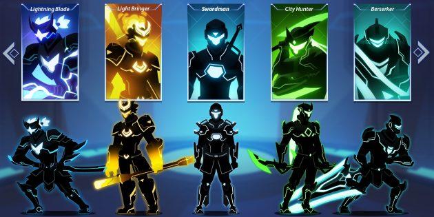 Игра-слэшерOverdrive Premium: выбор персонажей