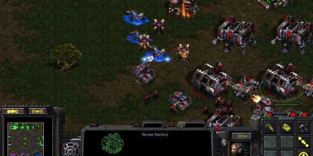 Старые игры на ПК: Сцена из StarCraft