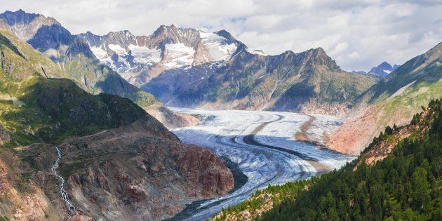 Куда поехать в Европе: Алечский ледник, Швейцария