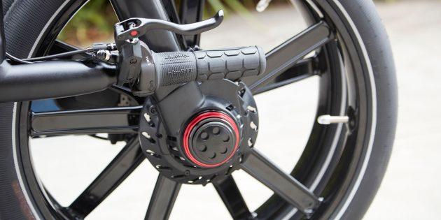 Складной электровелосипед Gocycle GX: задняя подвеска Lockshock