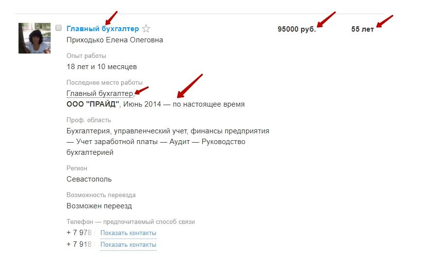 Отклик в сокращённом виде на HH.ru