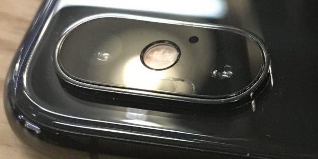 Стекло камеры iPhone XS и XS Max — уязвимая деталь