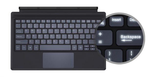 Планшет Chuwi Ubook: клавиатура с подсветкой в комплекте