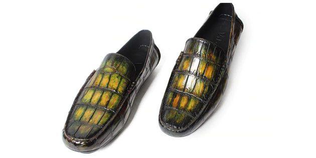Туфли из кожи аллигатора