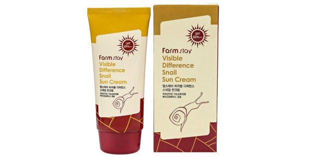 Лучшие солнцезащитные средства: Солнцезащитный крем для лица и тела Farm Stay