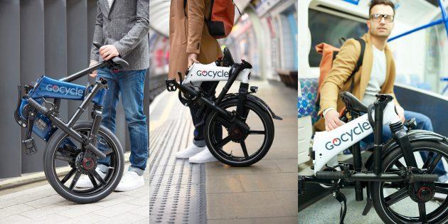 Складной электровелосипед Gocycle GX: компактный, как чемодан