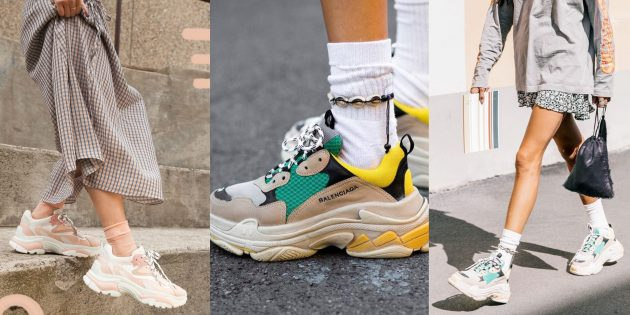 Модные кроссовки: Громоздкие кроссовки