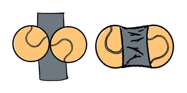 Как избавиться от боли в мышцах: аппликатор из двух теннисных мячей