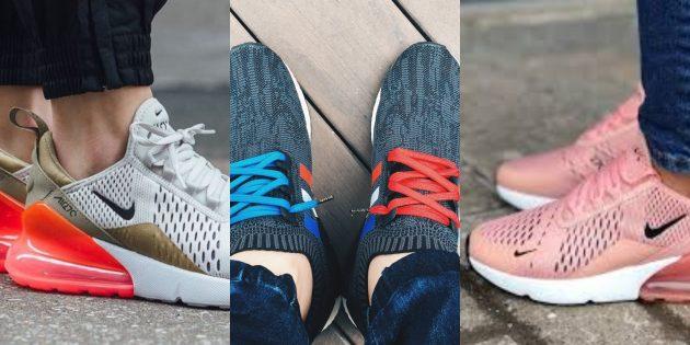 Модные кроссовки: Кроссовки с элементами главного цвета года