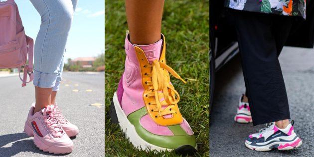 Женская обувь: Яркие ретрокроссовки