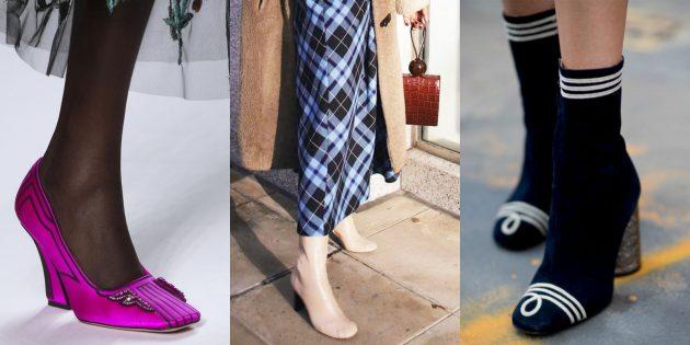 Женская обувь: Обувь с квадратными носками