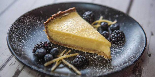 Кремовый лимонный пирог на песочном тесте