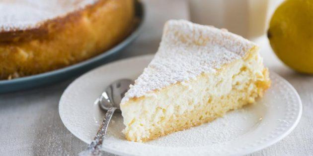 Лимонно-сливочный пирог