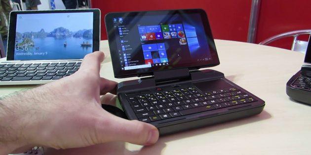 Мини-ноутбук GPD MicroPC: есть слот для карт microSD