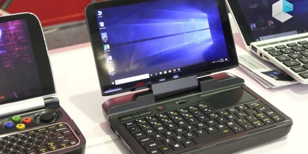 Мини-ноутбук GPD MicroPC: полноразмерная клавиатура