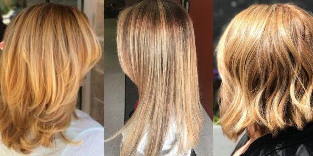 Модные цвета волос 2019года: чистый мёд