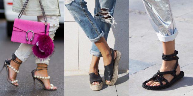 Женская обувь: Морские детали