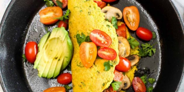 Аквафаба в кулинарии: омлет