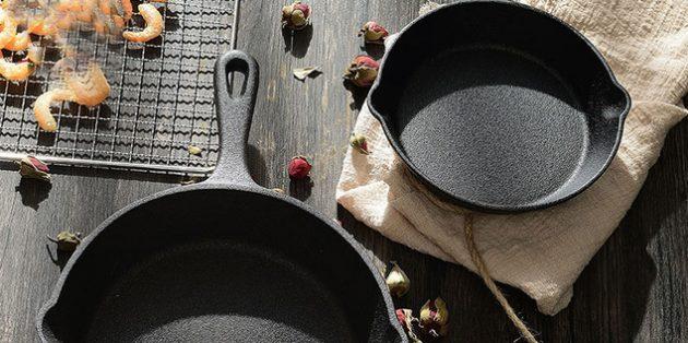 Как выбрать сковороду: Чугунные сковороды