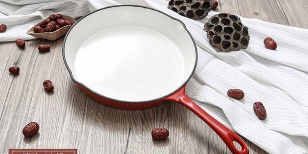 Как выбрать сковороду: Сковорода с эмалевым покрытием